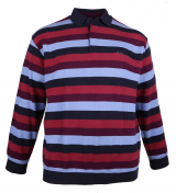 Sweat col Polo bordeaux