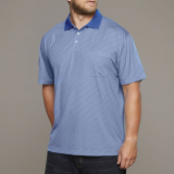 XXL4YOU Polo Fashion manches courtes bleu clair 3XL - 8XL
