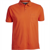 Polo orange manches courtes de 2XL à 8XL.