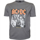 XXL4YOU T-shirt AC-DC manche courte gris Charcoal de 2XL à 8XL