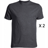 XXL4YOU Pack de 2 tee-shirts gris foncé de 2XL à 8XL