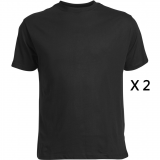 XXL4YOU Pack de 2 tee-shirts noir de 2XL à 8XL