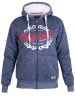 XXL4YOU - D555 - Veste sweat fouree a capuche Melange de bleu de 3XL a 6XL - Image 1