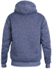 XXL4YOU - D555 - Veste sweat fouree a capuche Melange de bleu de 3XL a 6XL - Image 2