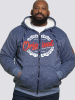 XXL4YOU - D555 - Veste sweat fouree a capuche Melange de bleu de 3XL a 6XL - Image 3