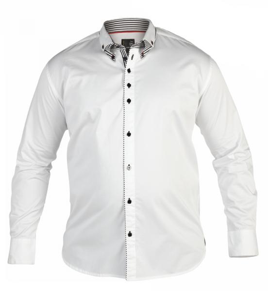 1XL - Chemise Fashion DINO blanc de XL à 4XL pour Homme ...