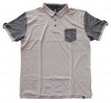 Polo fashion gris clair Col boutonné de 1XL à 6XL