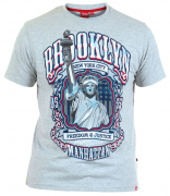 T-shirt gris clair Motif imprimé Brooklyn de 1XL à 6XL