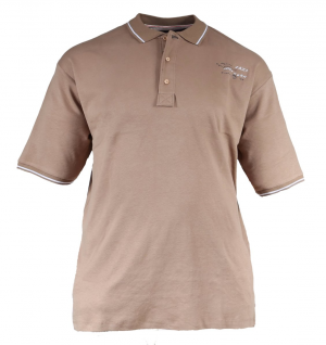 XXL4YOU - polo manches courtes beige  de 2xl à 5xl