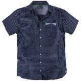 Chemise manches courtes petits carreaux bleu et blanc de 6XL à 8XL