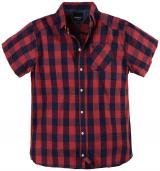 Chemise manches courtes carreaux marine rouge de 5XL à 8XL