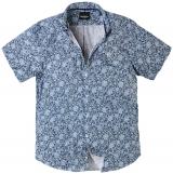 Chemise manches courtes Fleur Bleu de 3XL à 8XL
