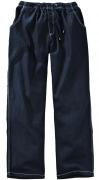 Pantalon jeans taille elastiquée bleu foncé délavé  de 4XL à 12XL
