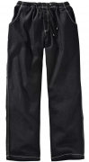 Pantalon jeans taille elastiquée noir délavé  de 4XL à 12XL