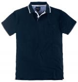 Polo piquet manches courtes bleu marine de 3XL à 8XL