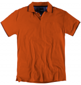 Polo piqué manches courtes orange de 3XL à 8XL