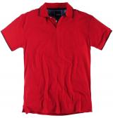 Polo piquet manches courtes rouge de 3XL à 8XL