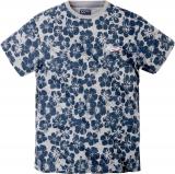 T-shirt fashion Fleur Bleu de 3XL à 8XL
