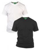 Pack de 2 T-shirts été manches courtes blanc et noir de 2XL à 8XL