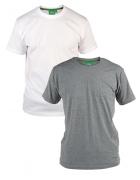 Pack de 2 T-shirts été manches courtes gris et blanc de 2XL à 8XL