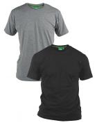 Pack de 2 T-shirts été manches courtes gris et noir de 2XL à 8XL