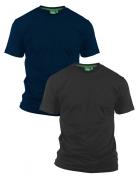 Pack de 2 T-shirts été manches courtes marine et noir de 2XL à 8XL