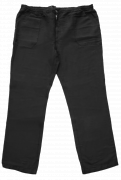 Pantalon en lin noir de 4XL à 8XL