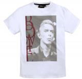 T-shirt rock Bowie  manches courtes blanc 3XL à 8XL