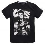 T-shirt rock Bowie  manches courtes noir 3XL à 8XL