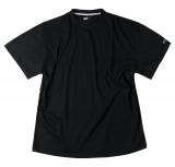 T-shirt noir de XL à 8XL Col rond