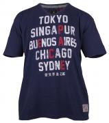 T-shirt manches courtes bleu chiné 3XL à 8XL