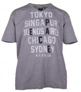 T-shirt manches courtes gris Chiné 3XL à 8XL