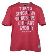 T-shirt manches courtes rouge 3XL à 8XL