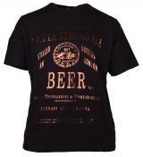 T-shirt manches Courtes noir de 3XL à 8XL