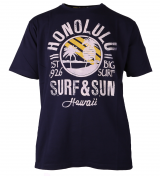 T-shirt manches Courtes bleu marine de 3XL à 8XL