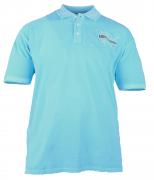 Polo manches courtes bleu Atoll