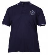 Polo manches courtes Rugby bleu marine de 3XL à 8XL