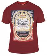 T-shirt manches courtes bordeaux de 3XL à 6XL