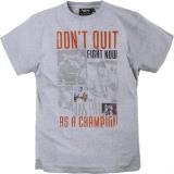 T-shirt boxeur - Mohamed Ali - manches courtes gris clair 3XL à 8XL