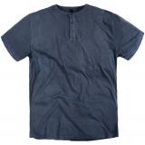T-shirt col boutonné bleu denim de 3XL à 8XL