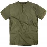 T-shirt col boutonné vert olive de 3XL à 8XL