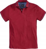 Polo Fashion manches courtes bordeaux de 2XL à8XL