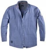 Chemise manches longues lignée bleu  5XL