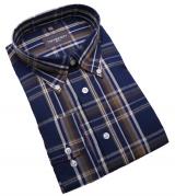 Chemise manches longues bleu Foncé de 2XL à 5XL