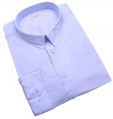 Chemise stretch manches longues bleu clair de 3XL à 8XL