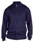 sweat cardigan manches longues bleu marine de 2XL à 5XL