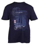 T-shirt manches courtes bleu marine 3XL à 8XL