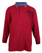 Polo manches longues rouge