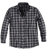 Chemise manches longues carreaux gris  5XL