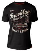 T-shirt manches courtes noir de 2XL à 6XL